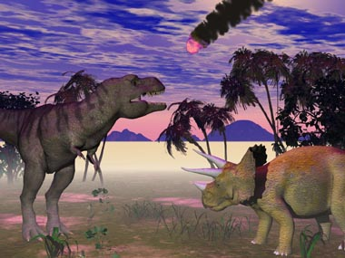 Asteroid killed dinosaurs by setting oil   The Guardian